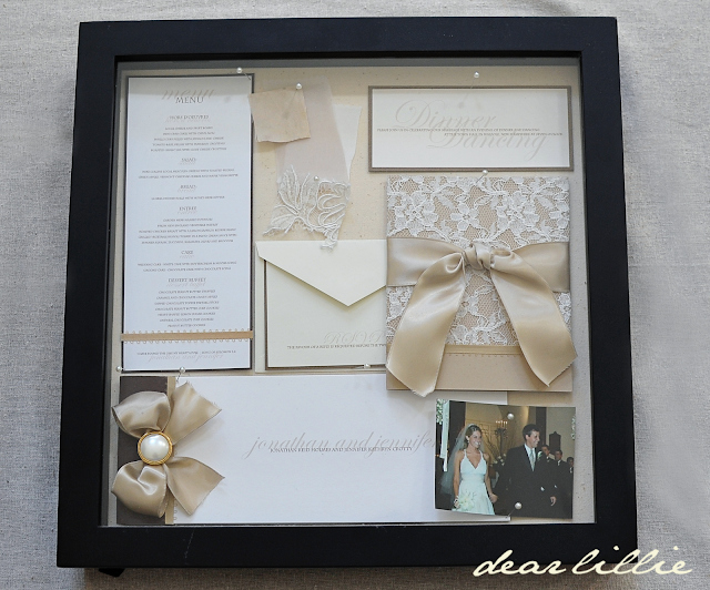 Wedding Invitation Shadow Box Ideas Unique Dear Lillie Our Wedding Invitation Program and Menu