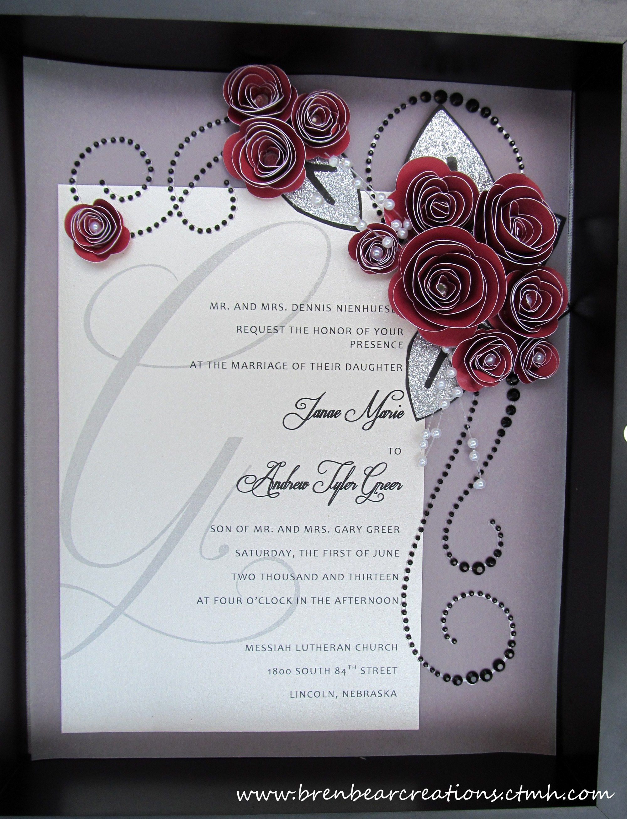 Wedding Invitation Shadow Box Inspirational Another Wedding Post…invite Shadow Box
