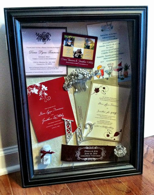 Wedding Invitation Shadow Box Lovely Create A Shadow Box Of Your Save the Date Bridal Shower