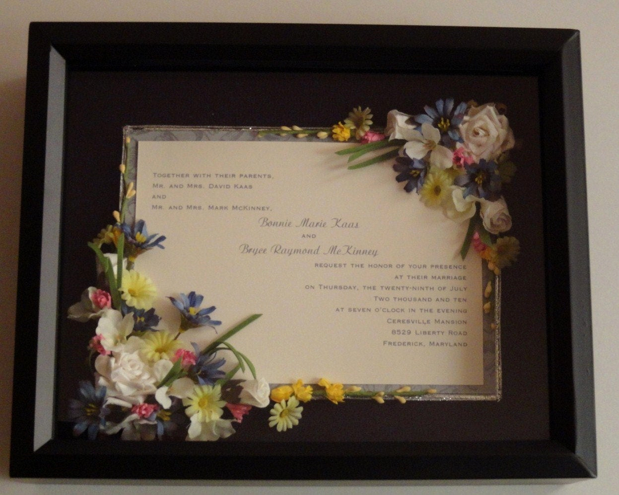 Wedding Invitation Shadow Box Luxury Items Similar to Single Page Wedding Invitation Shadow Box