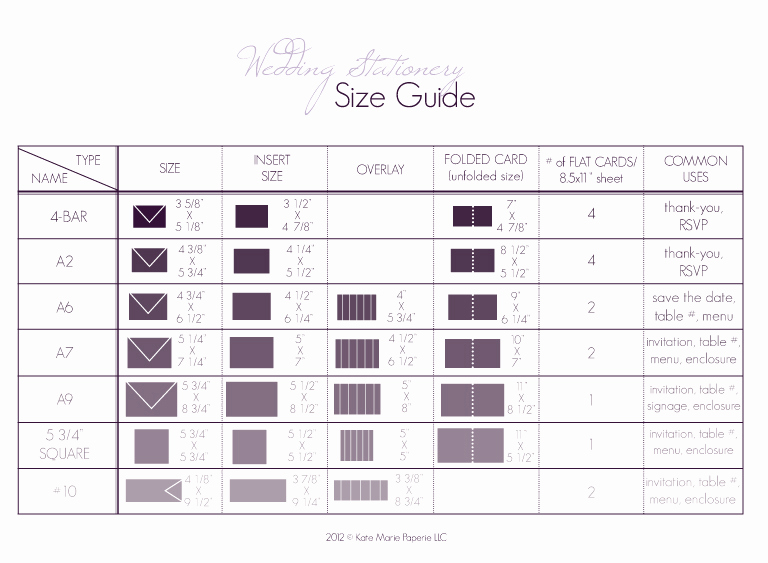 Wedding Invitation Size Chart Awesome Paper Wedding Paper Wedding Primer 1 Stationery Size