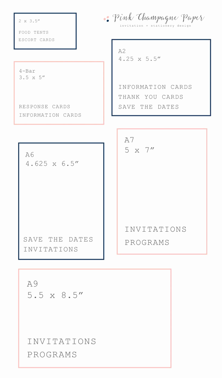 Wedding Invitation Size Chart Beautiful Best 25 Wedding Invitation Size Ideas On Pinterest