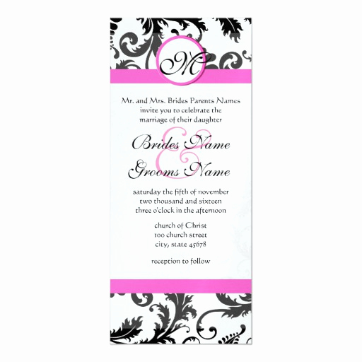 Wedding Invitation Size Chart Inspirational New Sizes Damask Swirls Wedding Invitation
