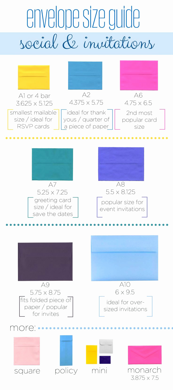 Wedding Invitation Size Chart Lovely 25 Unique Envelope Sizes Ideas On Pinterest