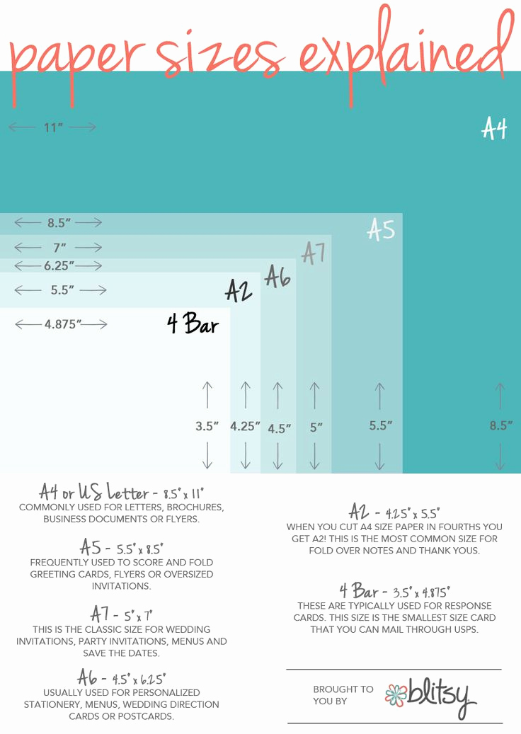 Wedding Invitation Size Chart Luxury 25 Best Ideas About Envelope Size Chart On Pinterest