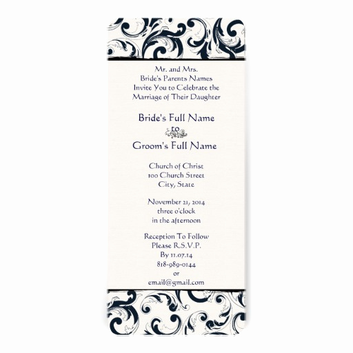 Wedding Invitation Size Chart Luxury New Sizes Damask Swirls Wedding Invitation