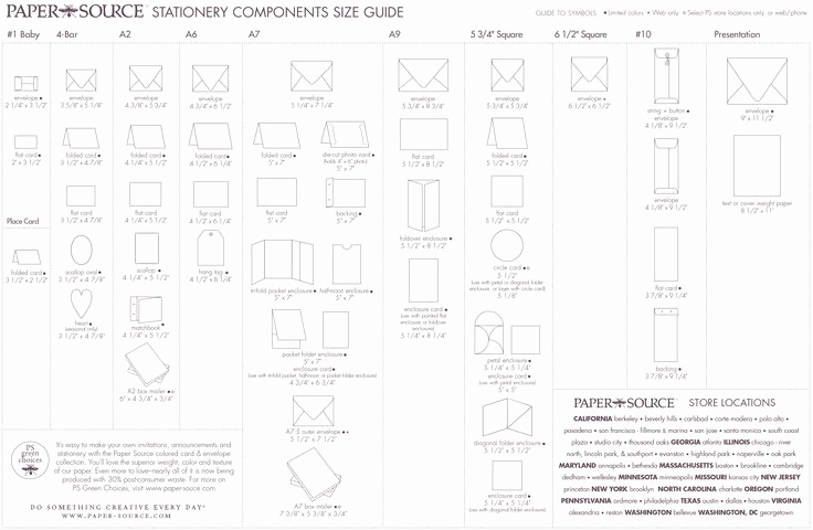 Wedding Invitation Size Chart Unique Envelope Size Chart Paper source