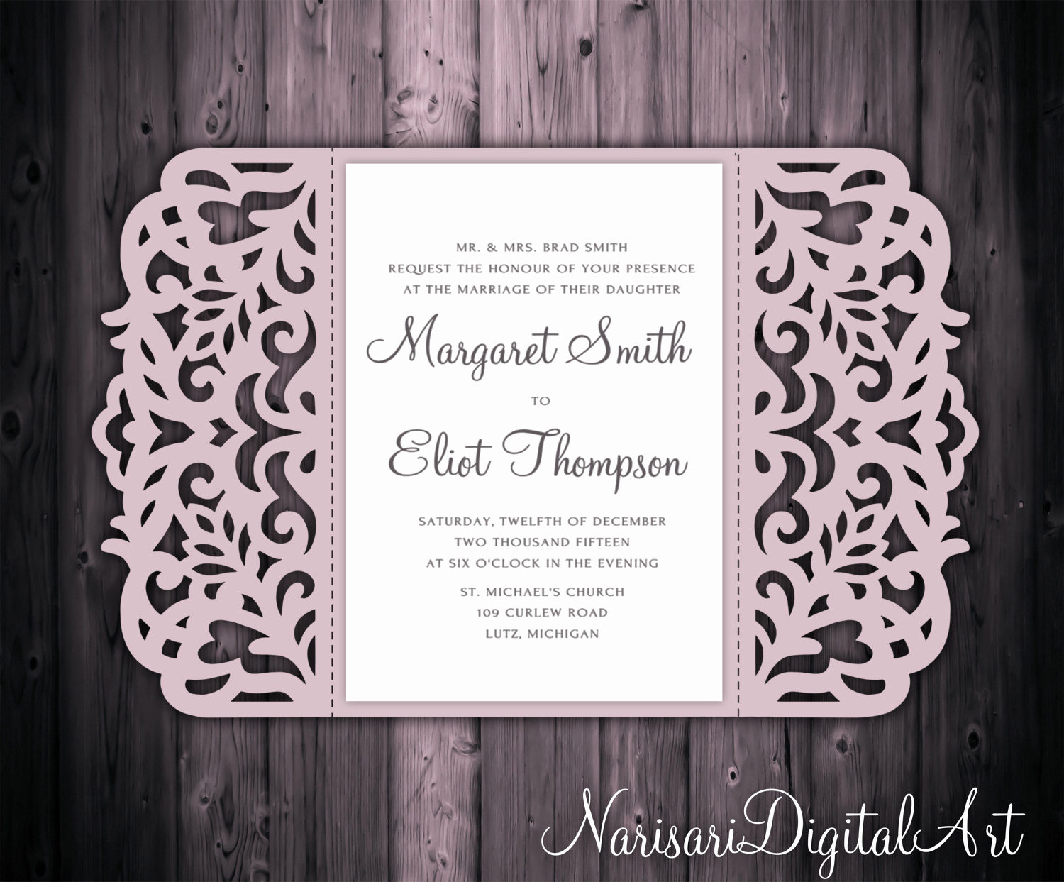Wedding Invitation Svg Files Best Of 5x7 Gate Fold Wedding Invitation Card Template Quinceanera