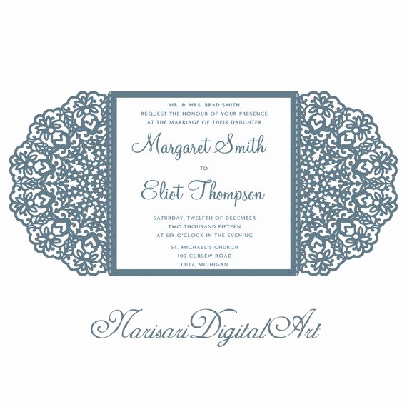Wedding Invitation Svg Files New Wedding Invitation Lace Card Svg Dxf Cutting Template от