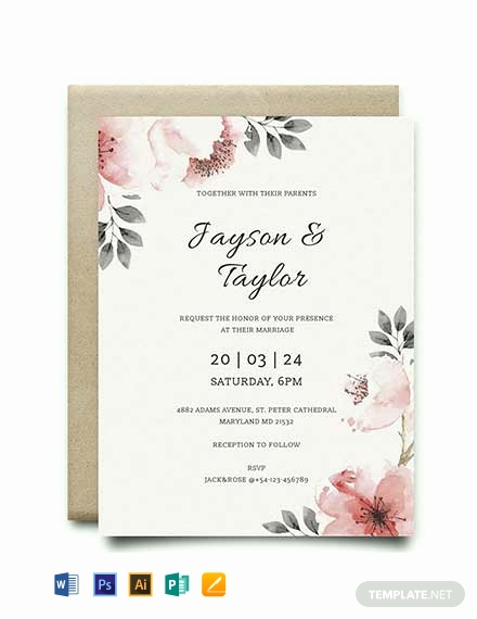 Wedding Invitation Template Download Awesome 79 Free Wedding Invitation Templates [download Ready Made