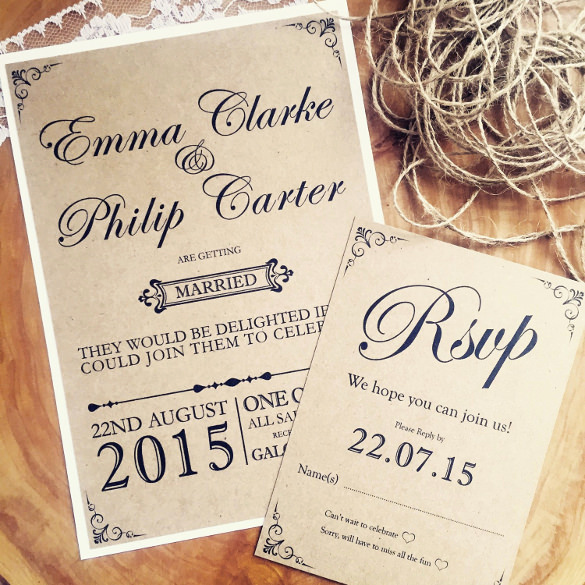 Wedding Invitation Template Download Inspirational 28 Rustic Wedding Invitation Design Templates Psd Ai