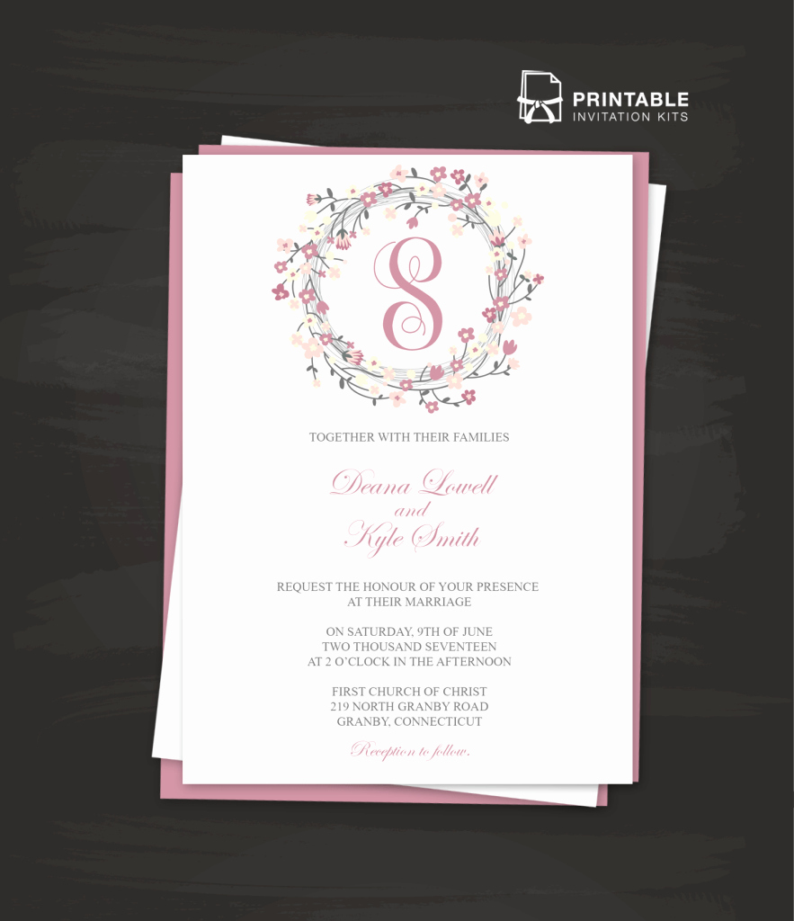 Wedding Invitation Template Download Inspirational Free Pdf Download Floral Wreath Logo Invitation Template