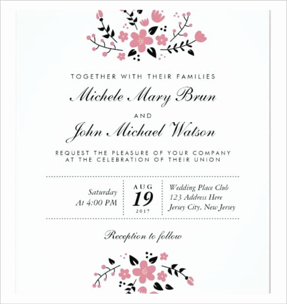 Wedding Invitation Template Download New 85 Wedding Invitation Templates Psd Ai