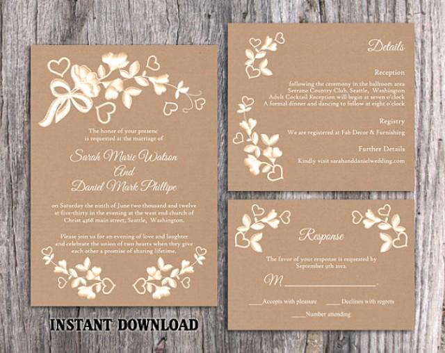 Wedding Invitation Template Download New Diy Lace Wedding Invitation Template Set Editable Word