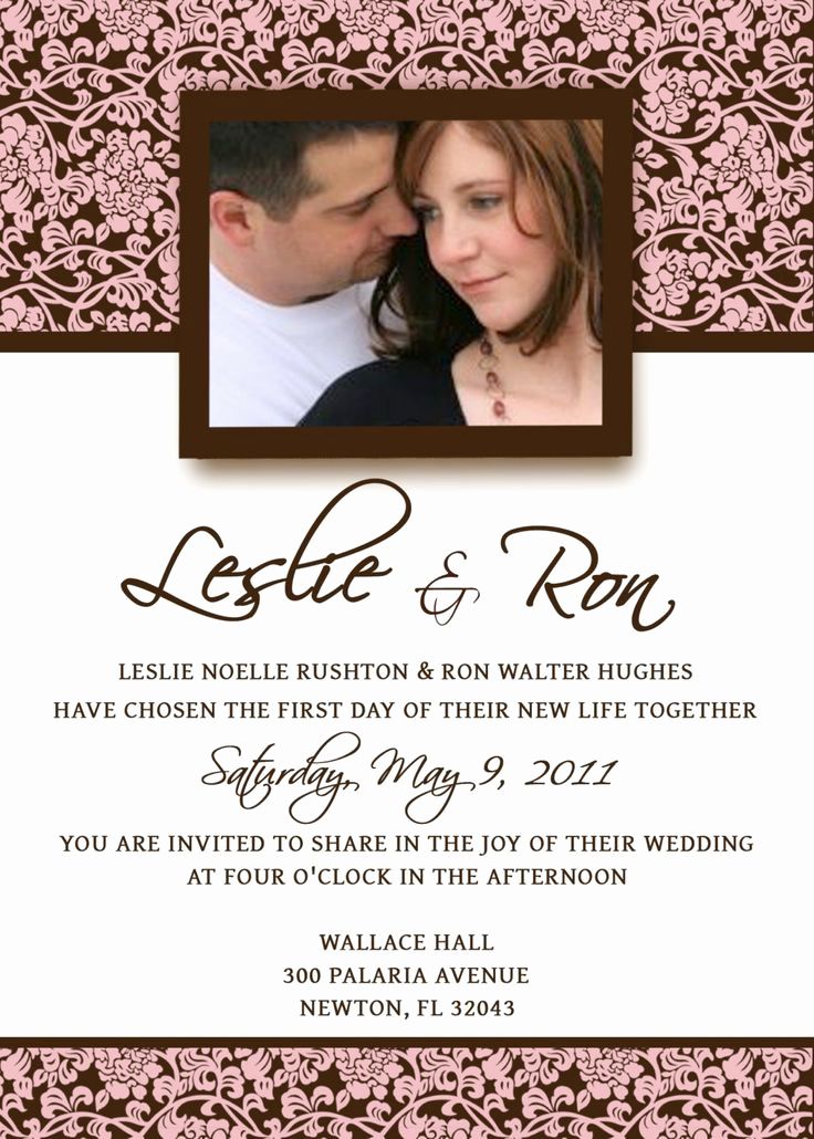 Wedding Invitation Template Download New Homemade Wedding Invitation Template