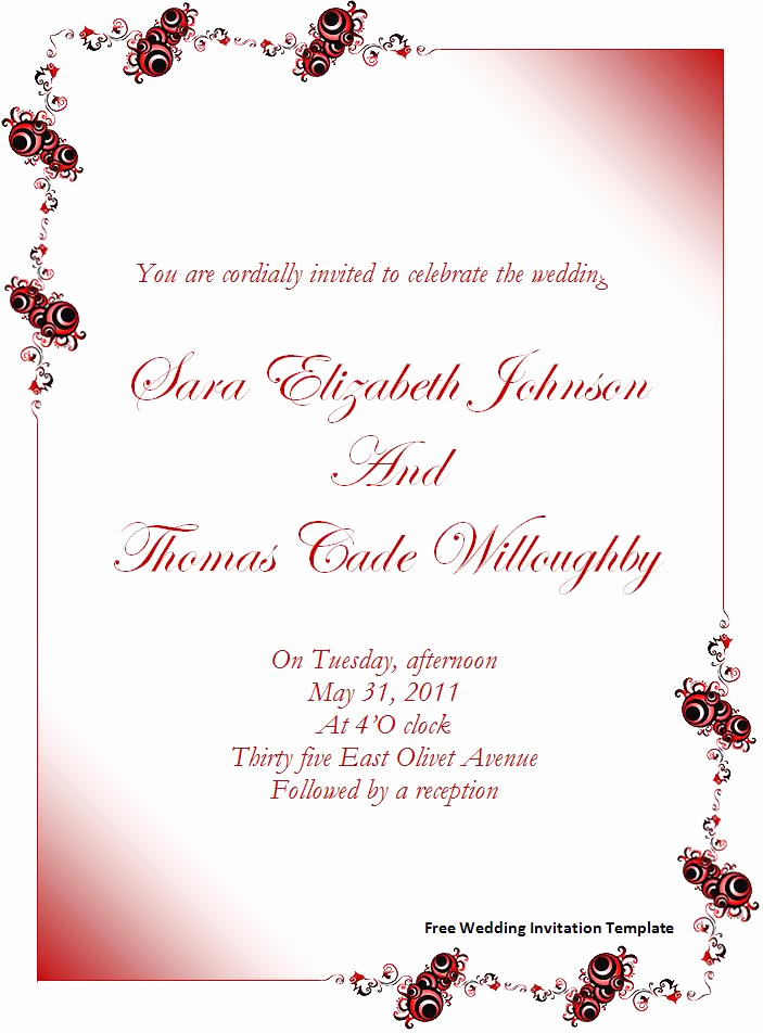 Wedding Invitation Template Download New Invitation Template Word