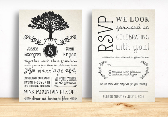 Wedding Invitation Templates Downloads Best Of 28 Rustic Wedding Invitation Design Templates Psd Ai