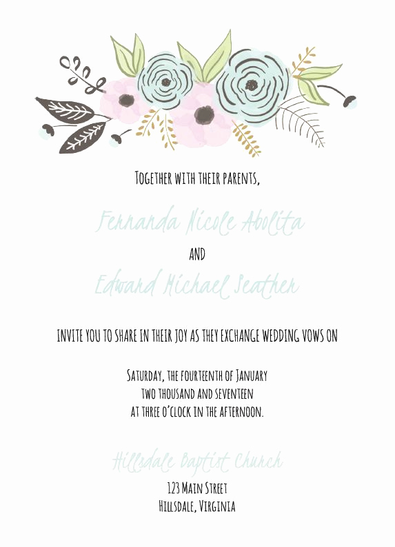 Wedding Invitation Templates Downloads Elegant 529 Free Wedding Invitation Templates You Can Customize