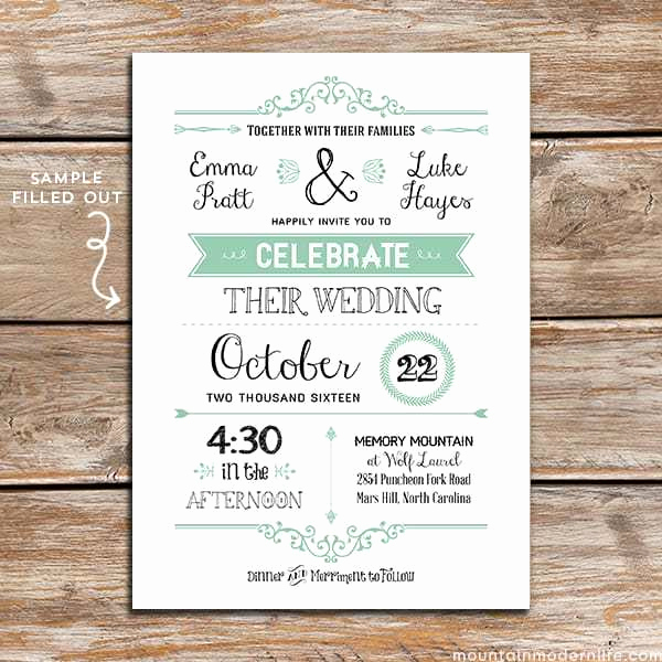 Wedding Invitation Templates Downloads Unique Free Wedding Invitation Template