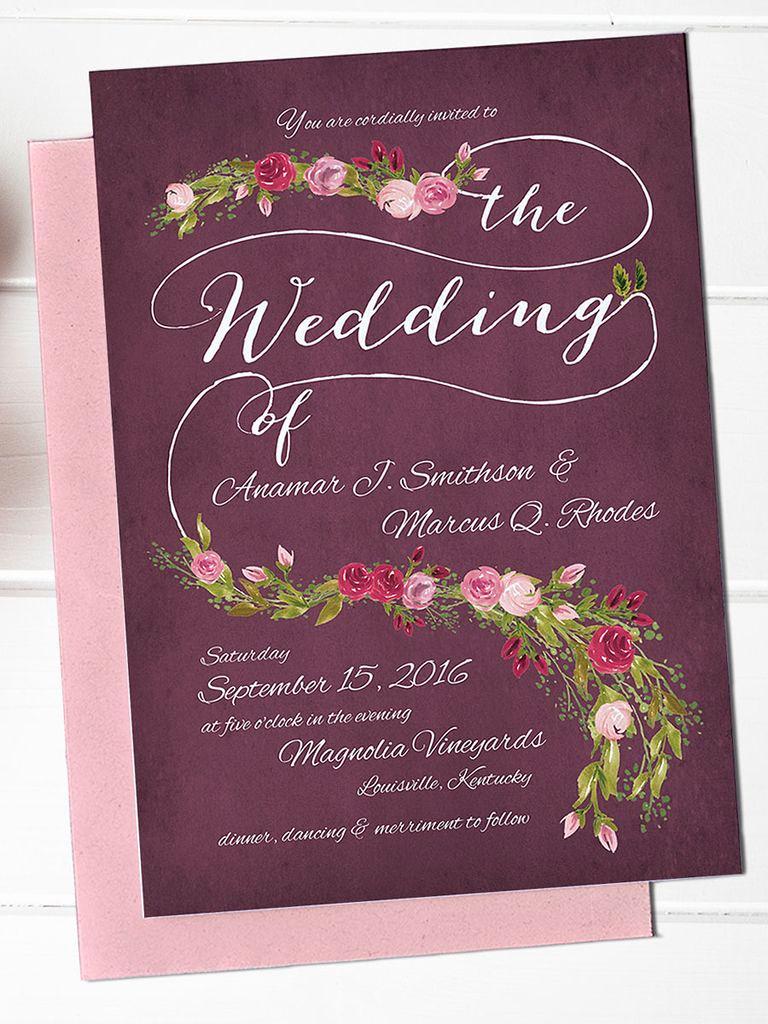 Wedding Invitation Templates Free Beautiful 16 Printable Wedding Invitation Templates You Can Diy