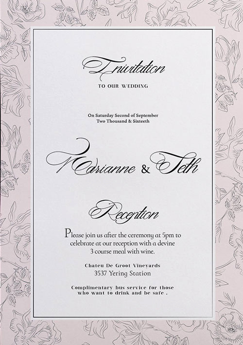 Wedding Invitation Templates Free Beautiful Free Wedding Invitation Flyer Template Download for