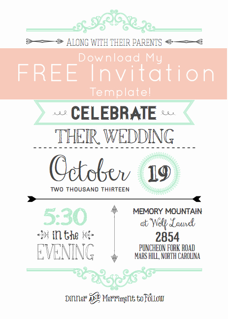 Wedding Invitation Templates Free Download Unique Free Wedding Invitation Templates