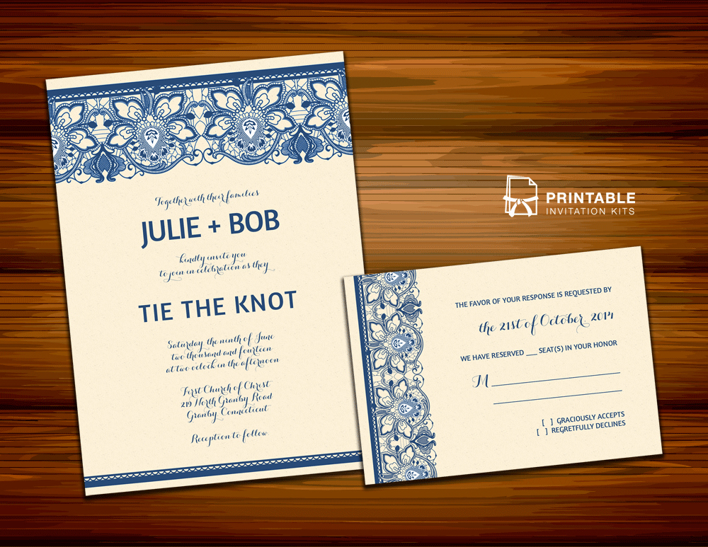 Wedding Invitation Templates Free Downloads Awesome Free Pdf Download Lace Invitation Design for Burlap and