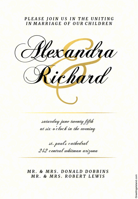 Wedding Invitation Templates Free Downloads Fresh Wedding Invitation Template 71 Free Printable Word Pdf