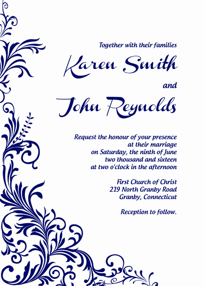 Wedding Invitation Templates Free Downloads New Free Pdf Download Foliage Border Wedding Invitation