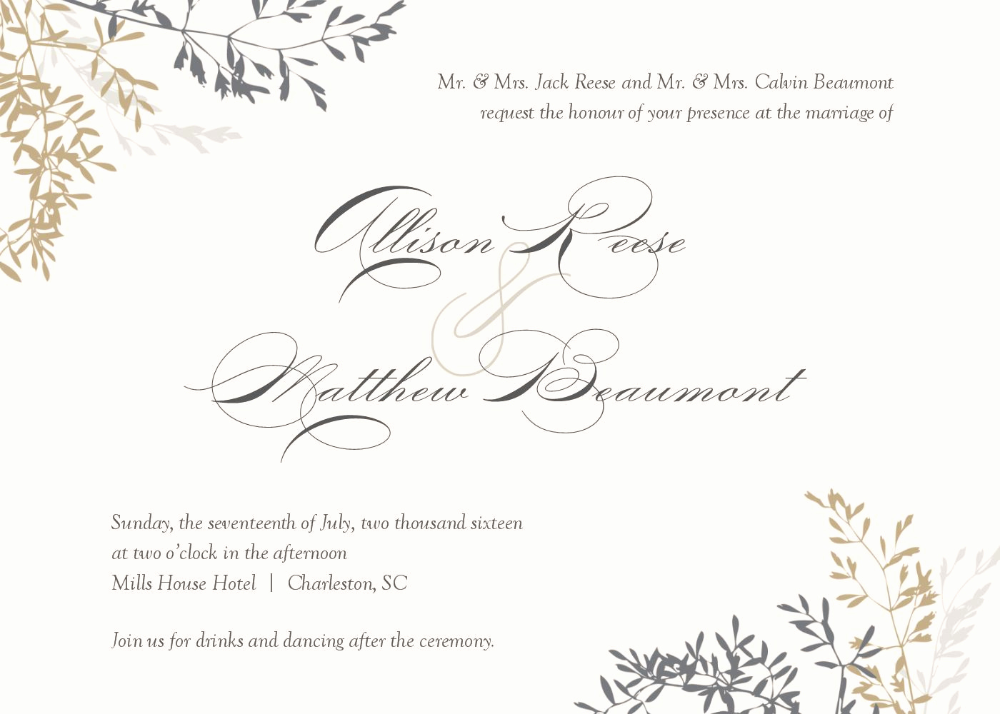 Wedding Invitation Templates Free Fresh Wedding Invitation Wedding Invitations Template Superb