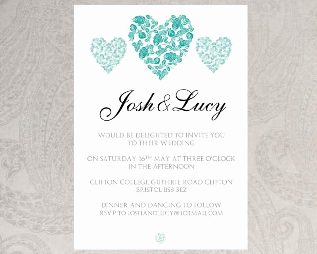 Wedding Invitation Templates Word Elegant Wedding Invitation Template Trio Hearts –download