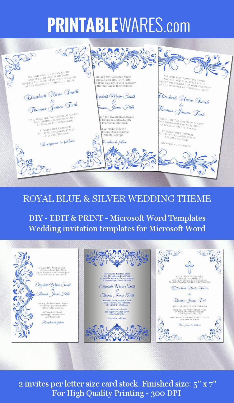 Wedding Invitation Templates Word Inspirational Royal Wedding Invitation Templates