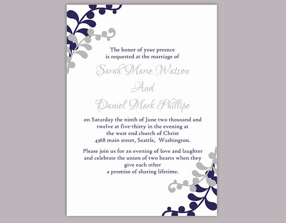 Wedding Invitation Templates Word Unique Diy Wedding Invitation Template Editable Word File Instant