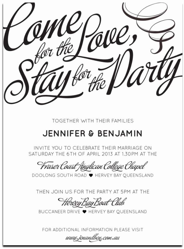 Wedding Invitation Wording Casual Inspirational 20 Popular Wedding Invitation Wording & Diy Templates
