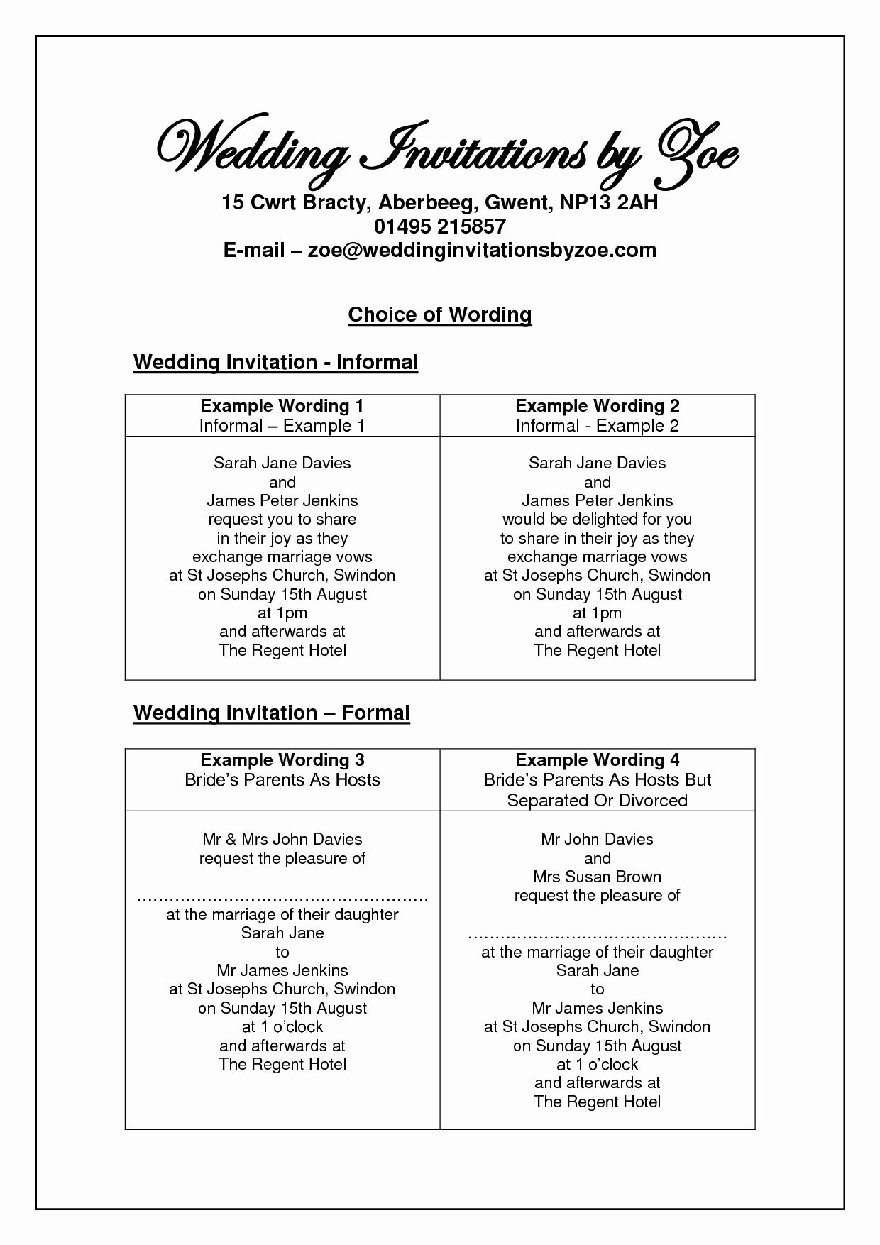 Wedding Invitation Wording Couple Hosting Fresh Informal Wedding Invitation Wording Google Search