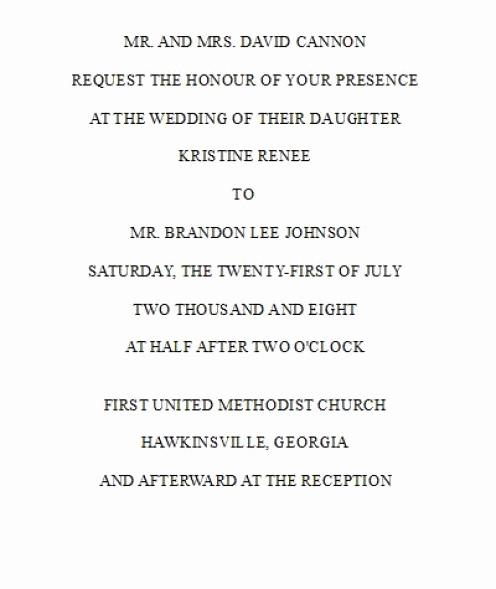 wedding invitation wording bride