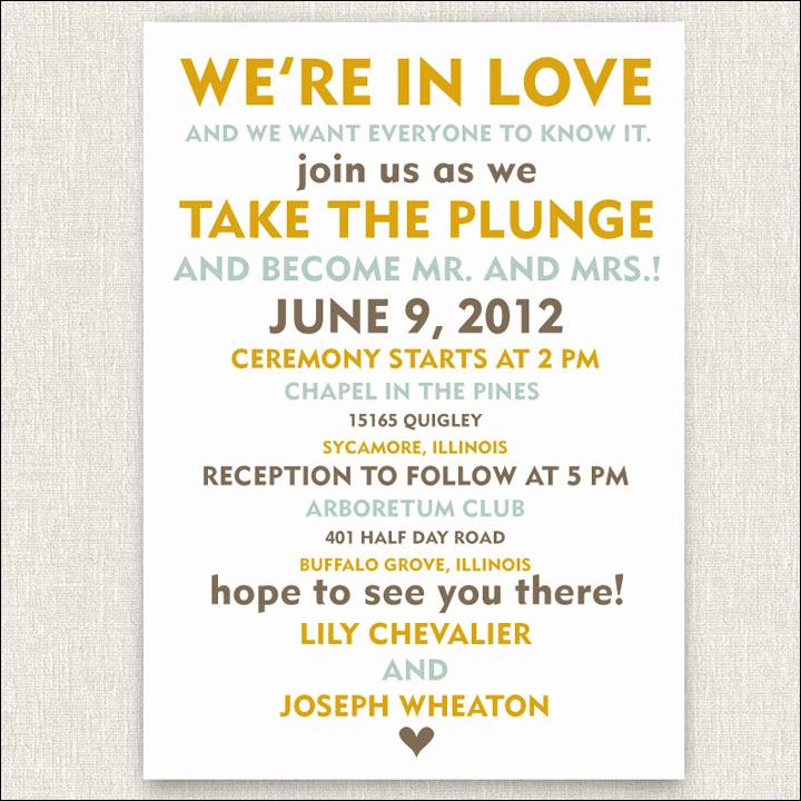Wedding Invitation Wording Funny Beautiful 10 Funny and Inspiring Informal Wedding Invitation Wordings