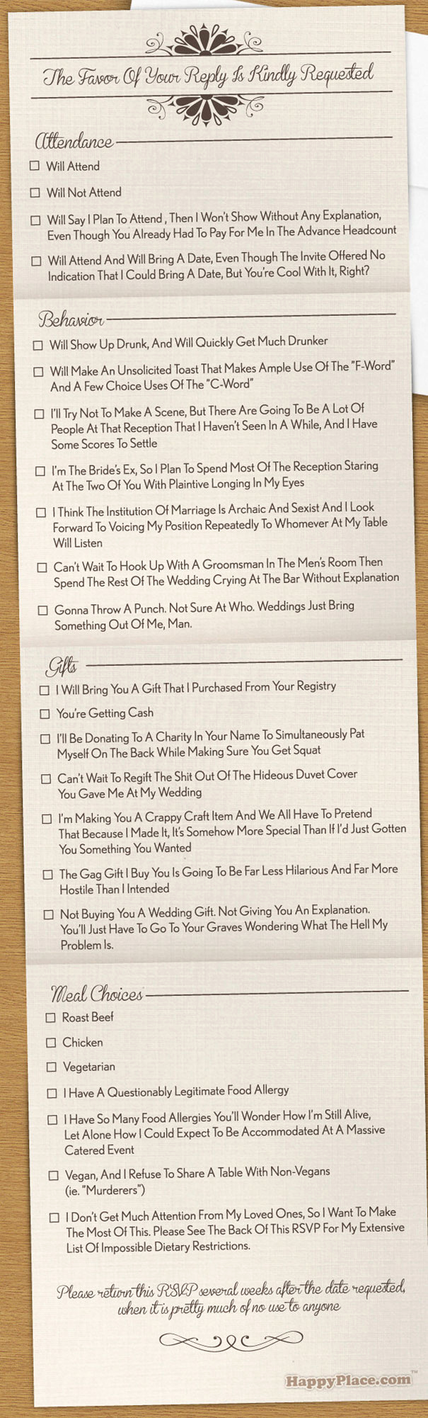 Wedding Invitation Wording Funny Elegant 9 Hilarious Wedding Invitations that Simply Can't Be