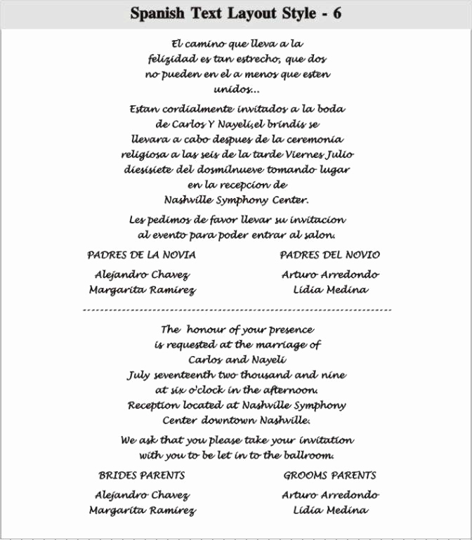 Wedding Invitation Wording In Spanish Awesome Wedding Quotes for Invitations In Spanish Image Quotes at