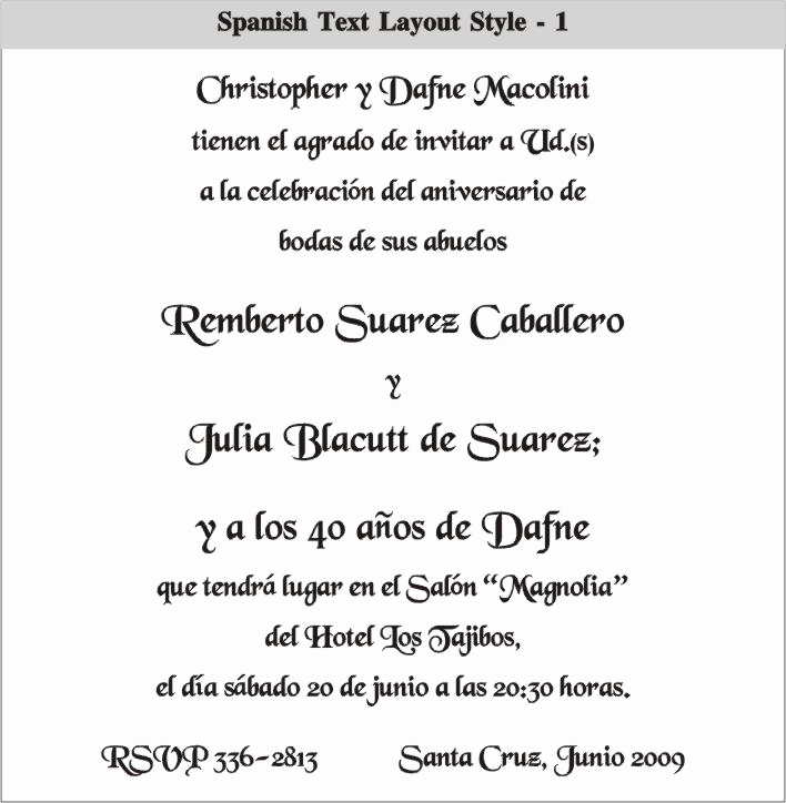 spanish wedding invitations wording