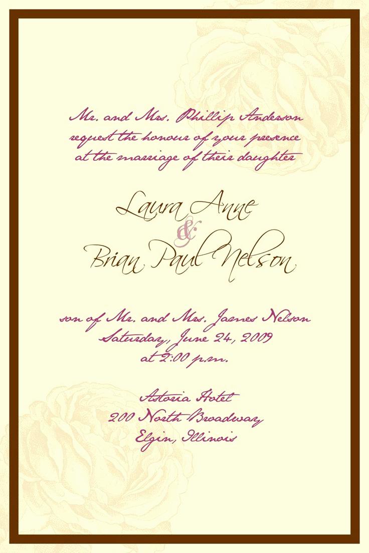 Wedding Invitation Wording In Spanish Fresh Best 25 Wedding Invitation Wording Ideas On Pinterest