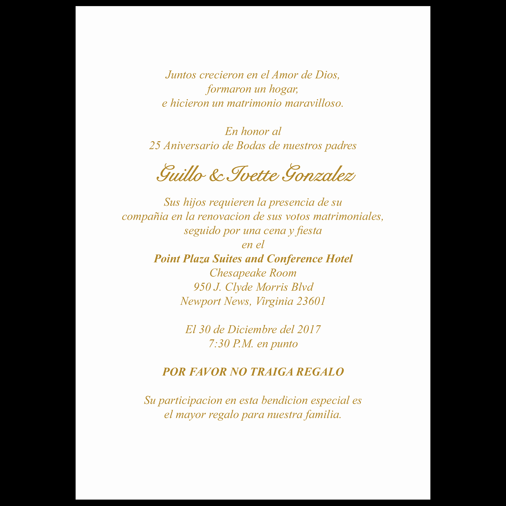 Wedding Invitation Wording In Spanish Inspirational 25th Anniversary Party Invitation Style 1s Spanish ⋆ Ipv