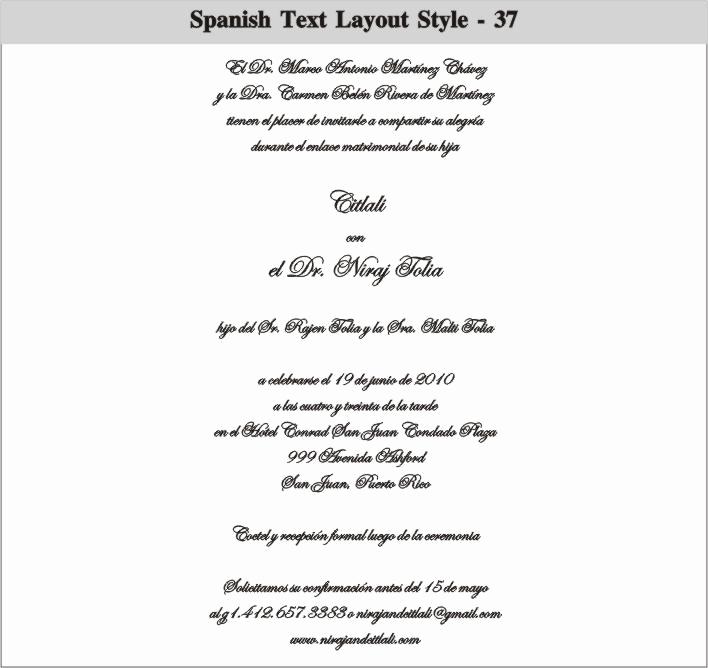 Wedding Invitation Wording In Spanish Inspirational Spanish Wedding Invitation Wording Samples Cobypic