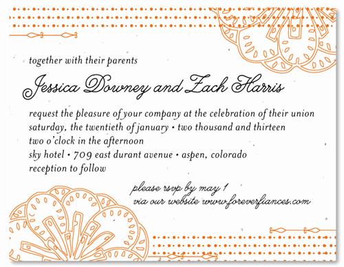 Wedding Invitation Wording In Spanish Inspirational Spanish Wedding Invitations On Seeded Paper Feliz by