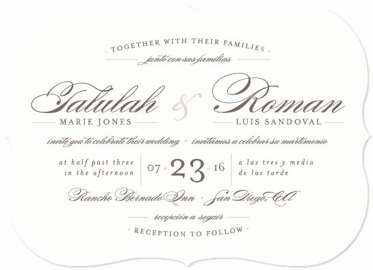 Wedding Invitation Wording In Spanish Luxury Love Language My Designs On Minted