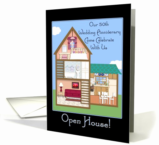 Wedding Open House Invitation Best Of Open House Invitations 50th Wedding Anniversary Card