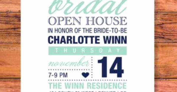 Wedding Open House Invitation Elegant Bridal Shower Open House Invitation by Albrowndesign On