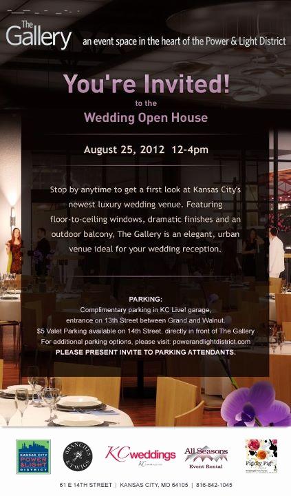 Wedding Open House Invitation Elegant Wel E Kc S Newest Wedding Venue