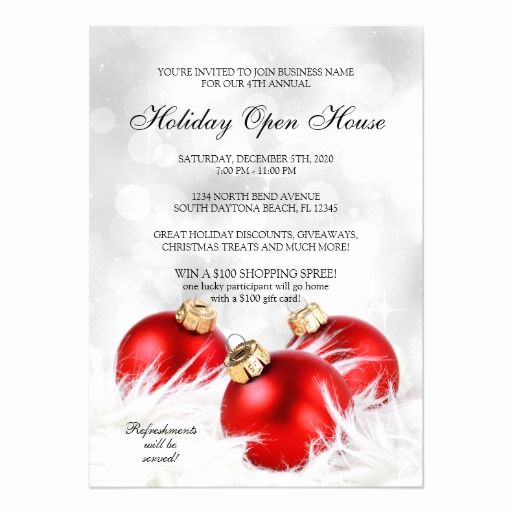 Wedding Open House Invitation Inspirational Elegant Christmas & Holiday Open House Invitations