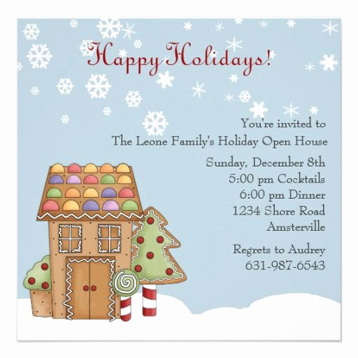 Wedding Open House Invitation Luxury Gingerbread Holiday Open House Invitation